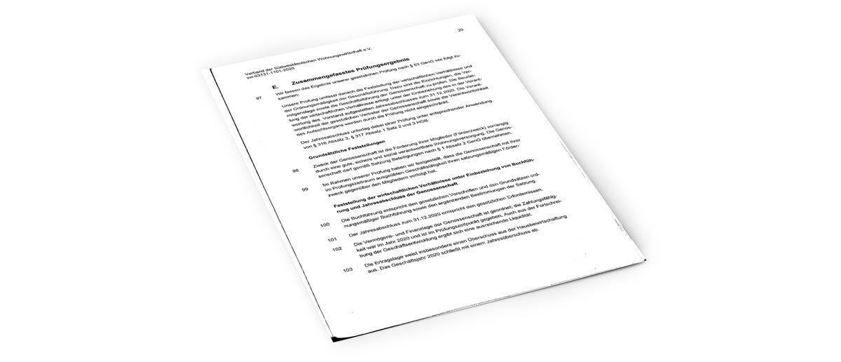 Zusammengefasstes Prüfungsergebnis als PDF herunterladen
